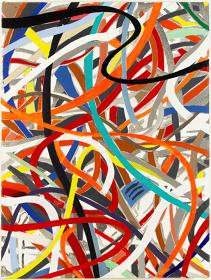 ブライアン・アルフレッド『CABLES』2017年 キャンバスにアクリル絵の具 H30.7×W23×D2.9cm ©Brian Alfred / MAHO KUBOTA GALLERY