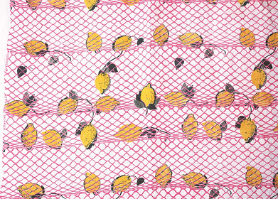 アルネ・ヤコブセン テキスタイル『レモン』1948年以前 テクスティール=ラスン ビスコース織物 個人蔵 photo: Michael Whiteway