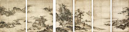 重要文化財『禅宗祖師図』狩野元信筆 六幅 室町時代 16世紀 東京国立博物館 Image:TNM Image Archives