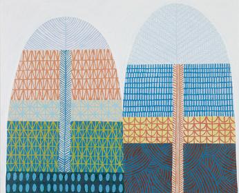 佐々木愛『二つの扉』2014 年、油彩、カンヴァス