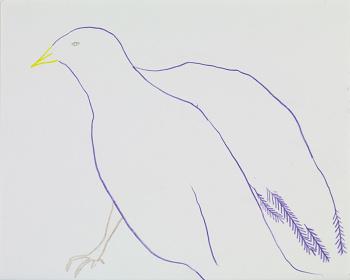 佐々木愛『無題』2011 年、色鉛筆、紙