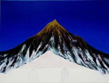 佐々木愛『帰る山』2013 年、油彩、カンヴァス