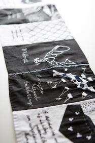 是恒さくら 『ありふれたくじら』Vol.1 原画刺繍(部分) 布、糸 2016 撮影=根岸功