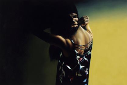 松川朋奈『朝4時までは待っていて』2015年 パネルに油彩 130.3×194cm Courtesy: Yuka Tsuruno Gallery, Tokyo