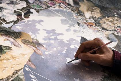 『誕生』2013-2016 紙にペン、インク、透明水彩 300×400cm 佐賀県立美術館蔵 ©IKEDA Manabu, Courtesy Mizuma Art Gallery Tokyo/Singapore