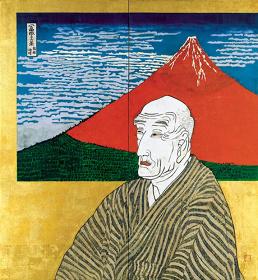 片岡球子『面構 葛飾北斎』1971年 神奈川県立近代美術館