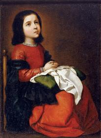 フランシスコ・デ・スルバラン『聖母マリアの少女時代』1660年頃 ©The State Hermitage Museum, St Petersburg, 2017-18