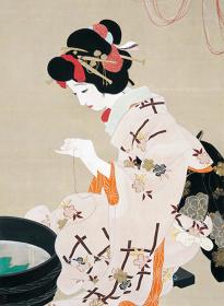 北野恒富『願いの糸』大正3年(1914)公益財団法人木下美術館蔵(全期間展示)