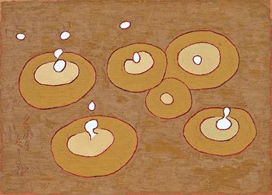 熊谷守一『雨滴』1961年 愛知県美術館 木村定三コレクション