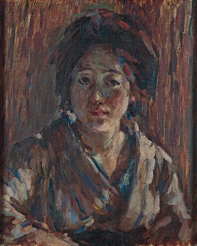 熊谷守一『某夫人像』1918年 豊島区立熊谷守一美術館