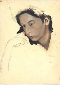 金子國義『澁澤龍彦氏の肖像』