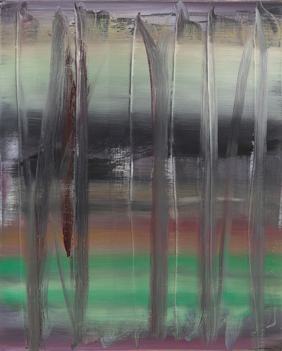 ゲルハルト・リヒター『Abstract Painting (753-9)』1992, oil on canvas, 51x41cm ©Gerhard Richter, courtesy WAKO WORKS OF ART