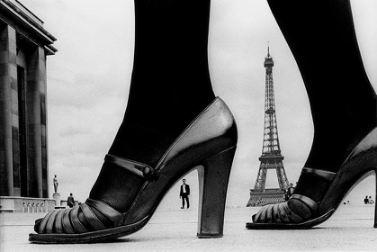 "For ""STERN"", shoes and Eiffel Tower,1974, Paris, France ©Frank Horvat"