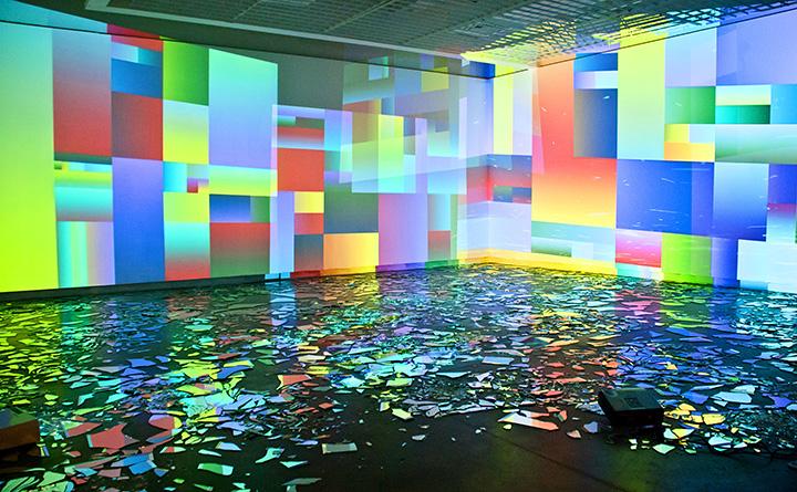 Installation view from Nova Museo Image E Son, Sao Paulo, 2012