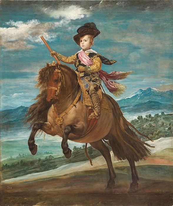 ディエゴ・ベラスケス『王太子バルタサール・カルロス騎馬像』1635年頃 マドリード、プラド美術館蔵 ©Museo Nacional del Prado