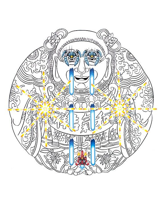 田名網敬一、オリバー・ペイン作品 ©Keiichi Tanaami, Oliver PayneCourtesy of the artists and NANZUKA