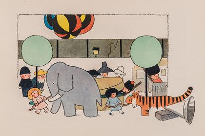 クロード・ドビュッシー 音楽/アンドレ・エレ絵『おもちゃ箱』1913年より ©NOEMA Inc. Japan