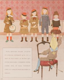アナトール・フランス著/モーリス・ブテ・ド・モンヴェル絵『われらの子どもたち』1887年より ©NOEMA Inc. Japan