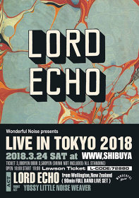 『LORD ECHO JAPAN TOUR 2018 LORD ECHO Live in Tokyo』イメージビジュアル