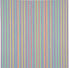 ブリジット・ライリー『賛歌』1973年 アクリル、カンヴァス 289.5x287.3㎝ 東京国立近代美術館 ©Bridget Riley 2018, all rights reserved. Courtesy David Zwirner, New York/ London.
