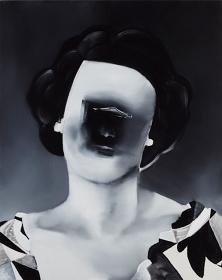 五木田智央『Old Portrait』2016 アクリルグワッシュ、キャンバス 個人蔵 Courtesy of Taka Ishii Gallery Photo: Kenji Takahashi