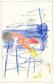 ヘンク・フィシュ『ADoRATioN inflicts pain 憧れは痛みを与える』2018, colour pencil on paper, 21×13.5cm ©Henk Visch, courtesy WAKO WORKS OF ART