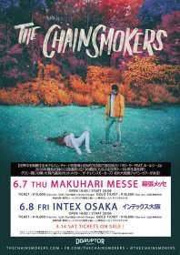 The Chainsmokers来日公演ビジュアル