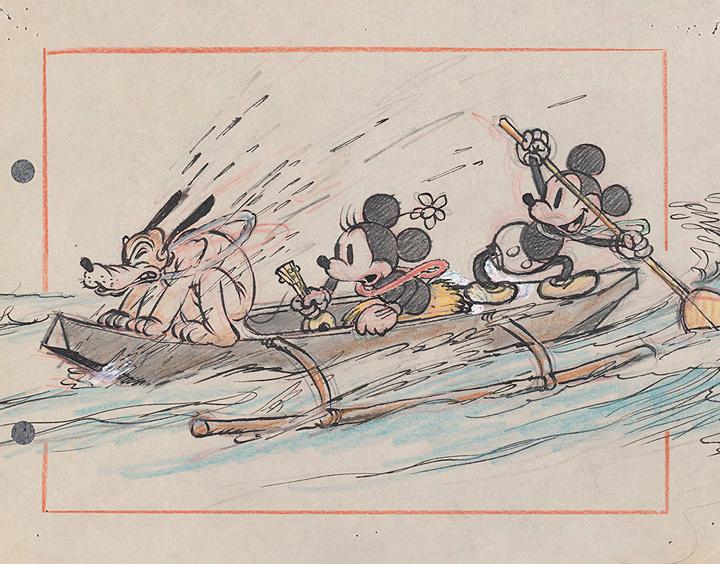 『ミッキーのハワイ旅行』より 1937年 ©Disney Enterprises, Inc.