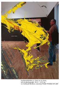 ゲルハルト・リヒター『8.Juni 16 (2)』2016, oil on photograph, 16.8×12.5cm ©Gerhard Richter, courtesy WAKO WORKS OF ART