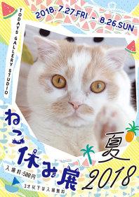 『猫の合同写真&物販展「ねこ休み展 夏 2018」』キービジュアル