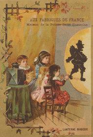 作者不詳(マジック・ランタンのトレード・カード) 19世紀 フランス リトグラフ 東京都写真美術館蔵 Artist Unknown, Magic Lantern, VictorianTrade Card, 19C, France, Lithograph, Collection of Tokyo Photographic Art Museum