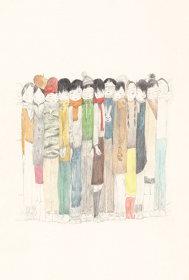 「冬の子」(2018年) サイズ:15.5×10.5cm