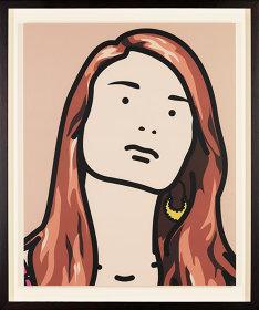 Julian OPIE『Hannah, schoolgirl. 2』 88.7 x 71 cm / ©The Mass