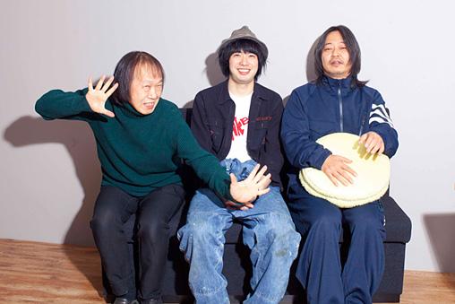 左から:祖父江慎、渡辺大知、佐内正史