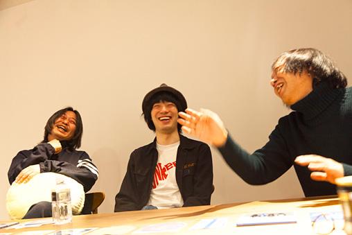 左から:佐内正史、渡辺大知、祖父江慎