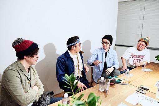 左から:望月一扶、奥野瑛太、上鈴木伯周、さいとうりょうじ