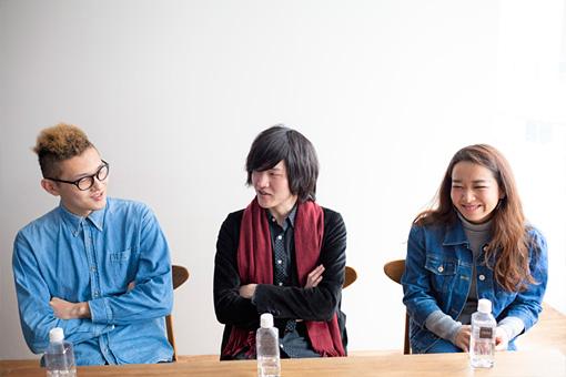 左から:Chiripon、真田徹、黒田秋子