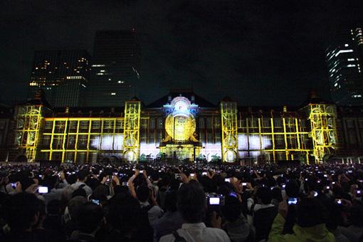東京駅で初めて開催されたプロジェクションマッピング『TOKYO STATION VISION』
