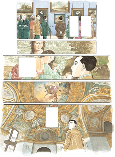 谷口ジロー『千年の翼、百年の夢』 ©TANIGUCHI Jiro – Futuropolis / musée du Louvre éditions(Shogakukan)