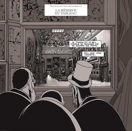 マルク=アントワーヌ・マチュー『レヴォリュ美術館の地下-ある専門家の日記より~』 ©Futuropolis(Musée du Louvre éditions 2006)