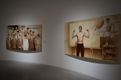 『西京人―西京は西京ではない、ゆえに西京は西京である。』展示風景 『帰って来たペインターF』
