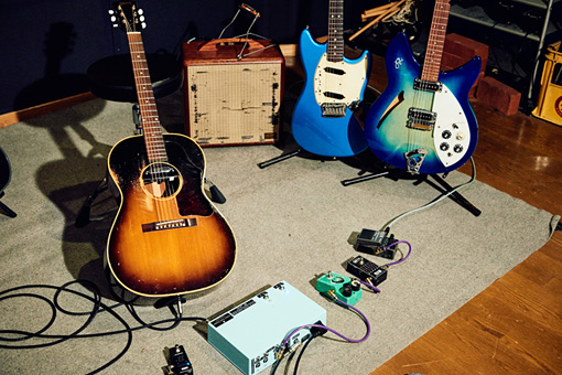 Reiのギターとアンプ、エフェクター類