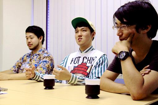 左から:清水大輔、斎藤辰也、文園太郎