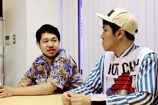 左から:清水大輔、斎藤辰也