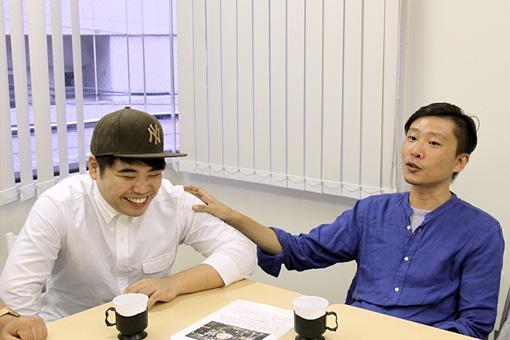 左から:田中佑司、蔡忠浩