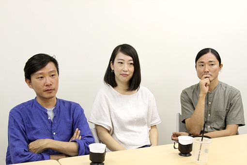 左から:蔡忠浩、森本夏子、小池龍平