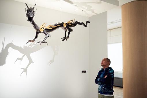 宗義『自在龍』 鉄 明治-昭和 長約300cm