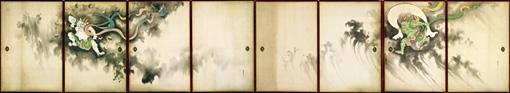 『風神雷神図襖』鈴木其一筆 八面 / 江戸時代 19世紀 東京富士美術館 ©東京富士美術館イメージアーカイブ/DNPartcom(展示期間:10月5日~10月30日)