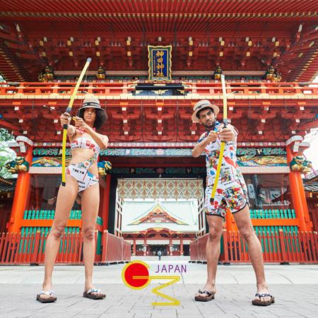 日本の水着ブランド「GUACAMOLE」。審査員たちから「一見日本的なグラフィックじゃないけど面白い」との声