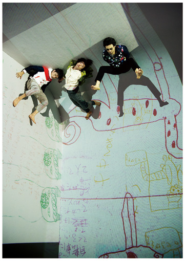 左から:岩井秀人、森山未來、前野健太 ©平岩享(提供:東京芸術劇場)